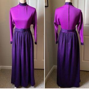 VTG 60s Mod Vibrant Geometric Pattern Dress